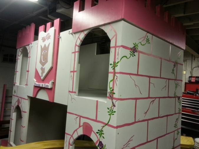 Messy Momming DIY Customized Princess Castle Bed