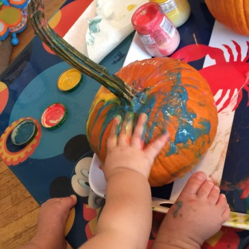 Toddlers will love playing with this homemade finger paint, and there's no worries if they eat it too!