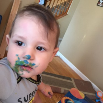 Homemade Finger Paint is perfect for Baby Danger!